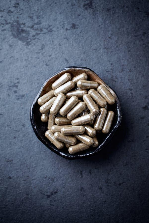Asiatica κάψες Centella κόλα Gotu Έννοια για μια υγιή διαιτητική συμπλήρωση στοκ εικόνες με δικαίωμα ελεύθερης χρήσης