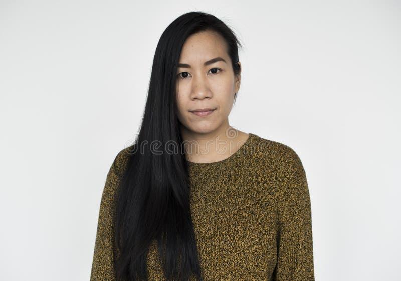 Asiatin-schönes Blick-Konzept lizenzfreie stockbilder