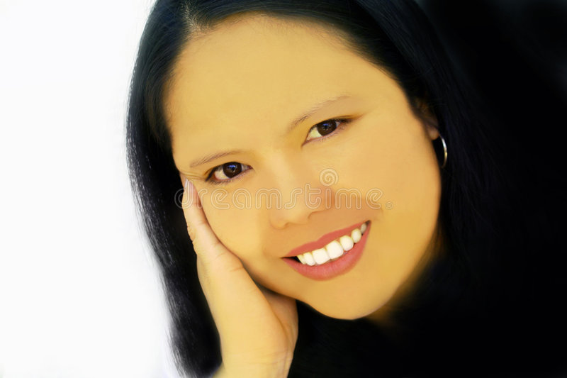 Asiatique avec du charme photo stock