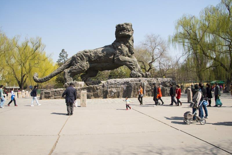Asiatique Chine, Pékin, le zoo, le paysage de ressort photographie stock