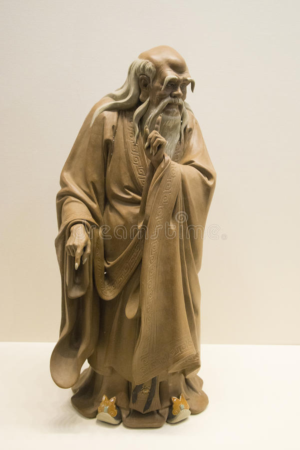 Asiatique Chine, statues, philosophe antique de la Chine, historien, zi de lao, images stock