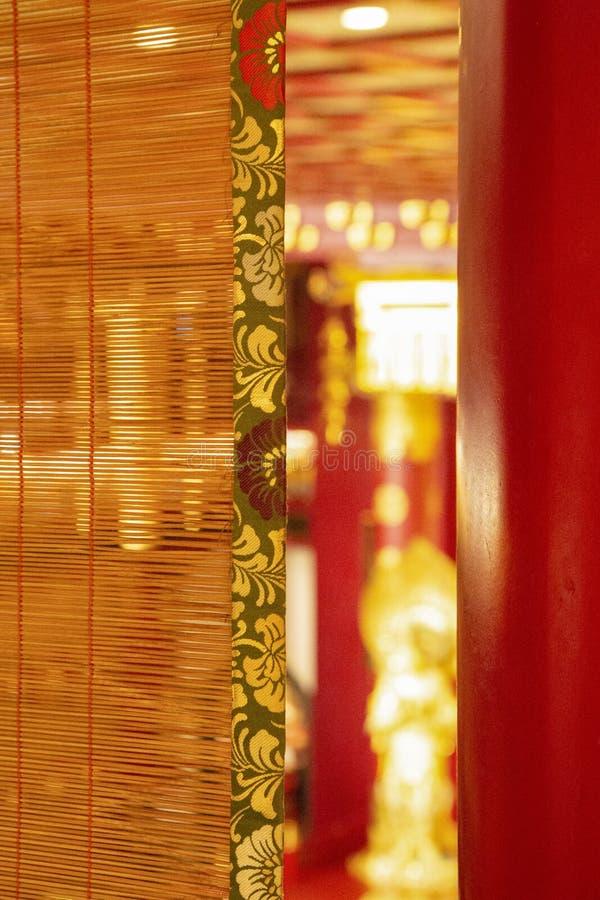 Asiatique de rideau en bambou images libres de droits