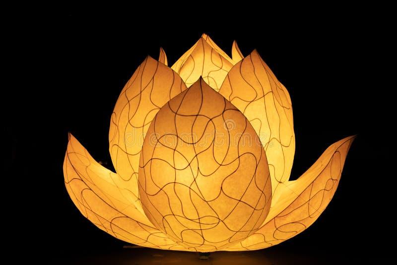 Asiatique Lotus Flower Lantern à un temple bouddhiste photos libres de droits
