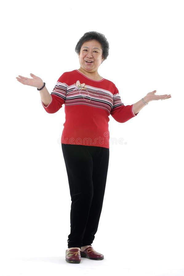 Asiatische ältere Dame zwei stockfotografie