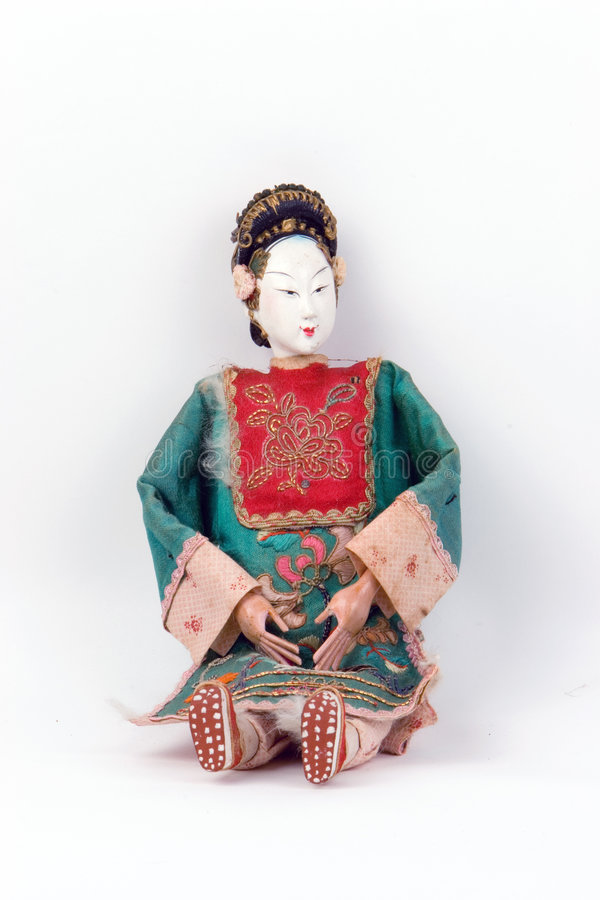 Asiatische antike Puppe stockfoto