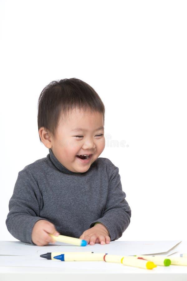 Asiatische Babyliebeszeichnung lizenzfreies stockbild