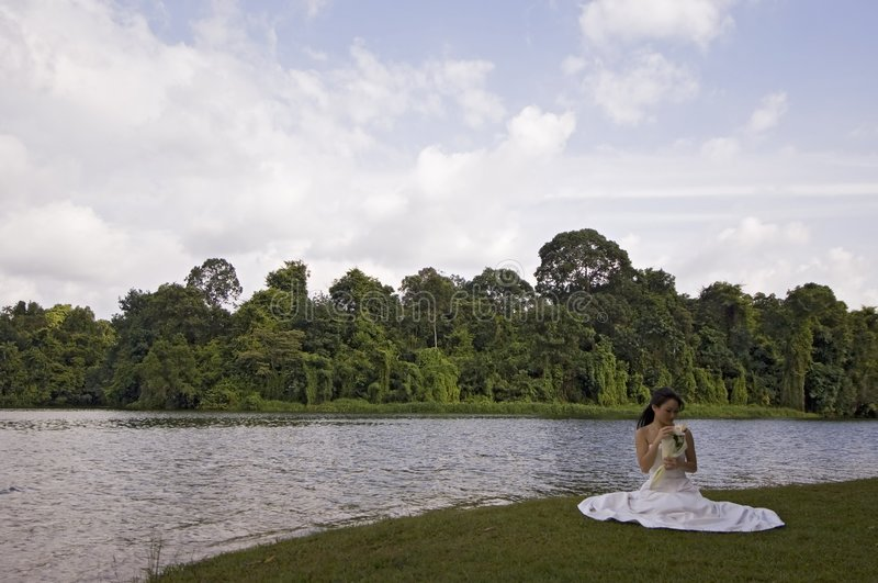 Asiatische Braut 13 lizenzfreies stockbild