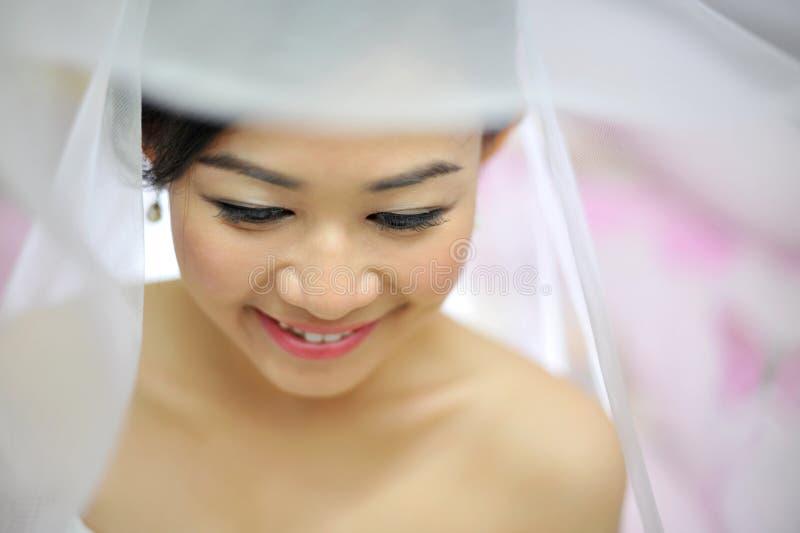 Asiatische Braut stockbilder