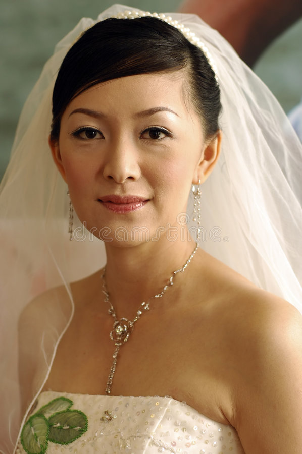 Asiatische Braut lizenzfreie stockfotos