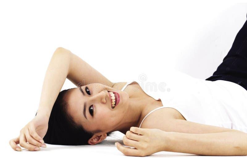 Asiatische Dame lizenzfreies stockbild