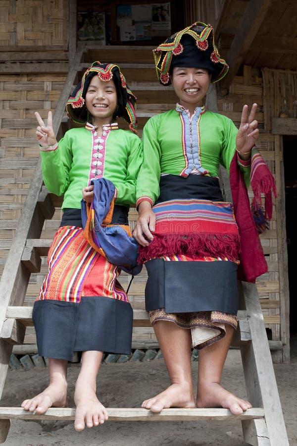 Asiatische Frau siamesische Verdammung, Laos lizenzfreies stockfoto