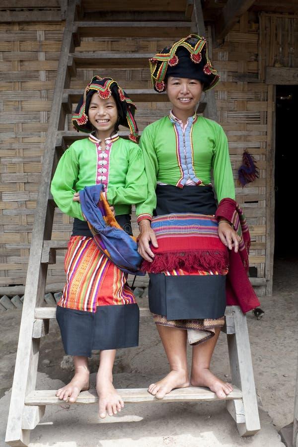 Asiatische Frau siamesische Verdammung, Laos stockfoto