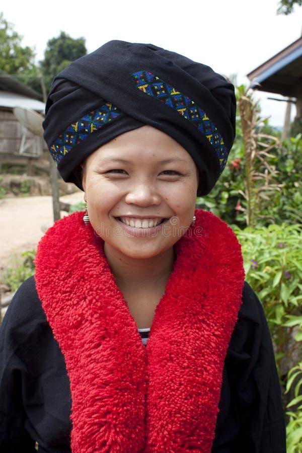 Asiatische Frau, Yao, von Laos stockfoto