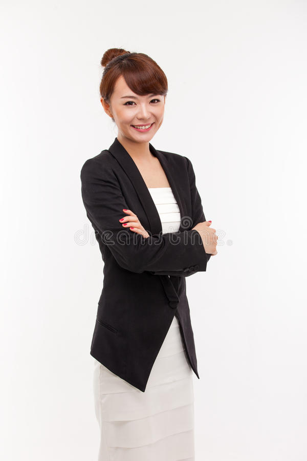 Asiatische Geschäftsfrau der Junge recht lizenzfreies stockbild