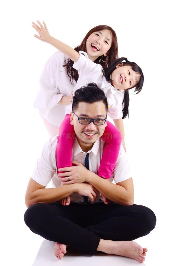Asiatische glückliche Familie stockfotos