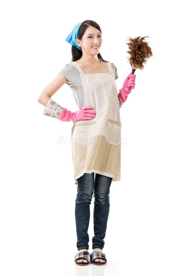 Asiatische Hausfrau lizenzfreie stockfotos