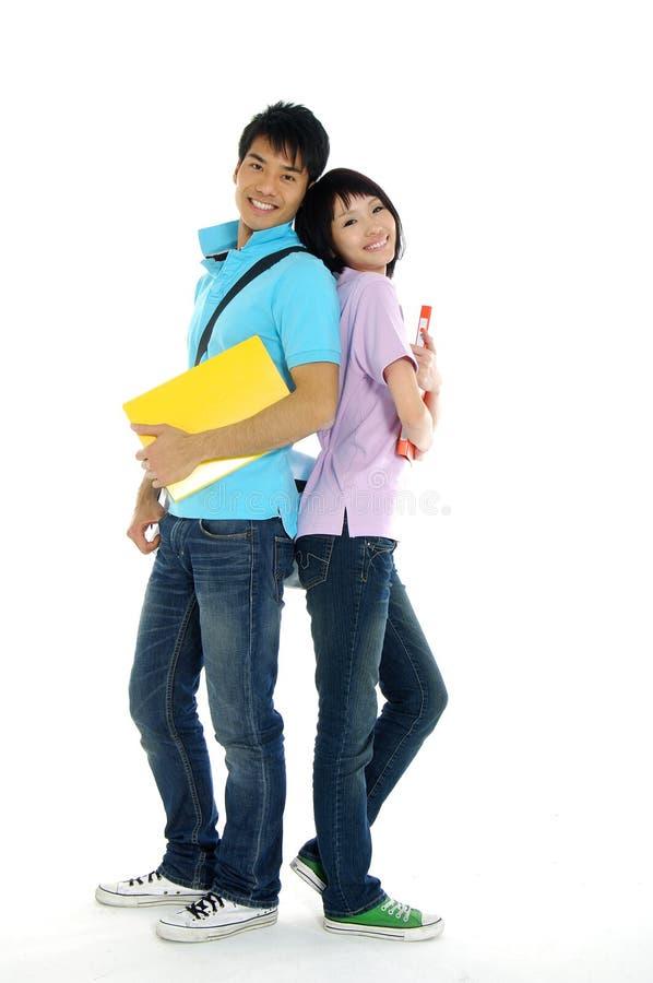 Asiatische junge Kursteilnehmer lizenzfreie stockbilder