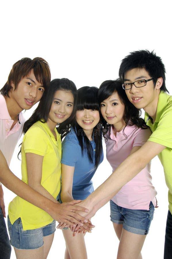 Asiatische junge Kursteilnehmer lizenzfreie stockfotos
