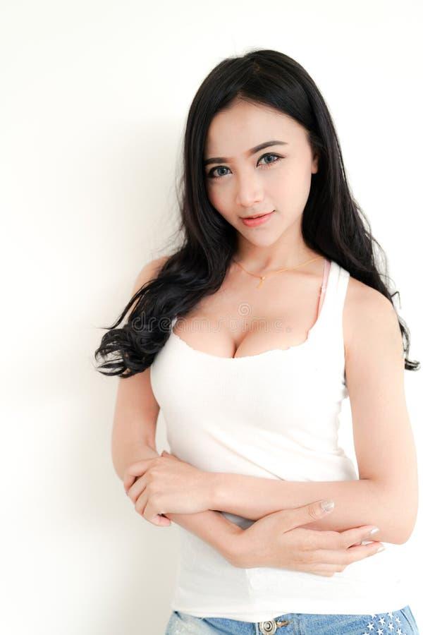 Asiatische junge sexy Dame stockbilder
