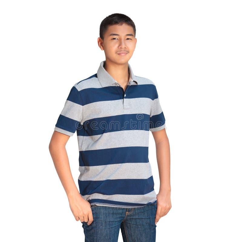 Asiatische Jungenstellung des Jugendlichen stockbilder