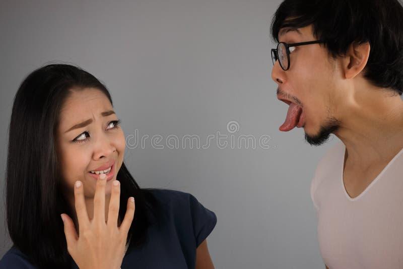 Asiatische Liebhaber stockbilder