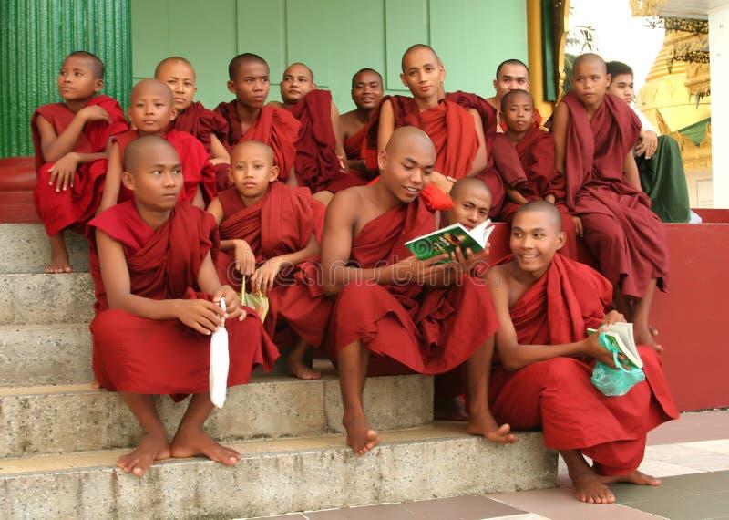 Asiatische Mönche stockfotos