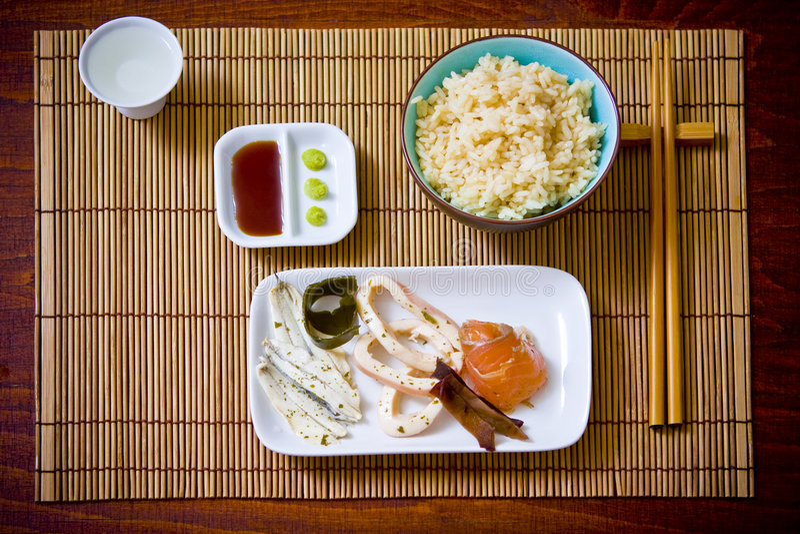 Asiatische Mahlzeit lizenzfreies stockfoto