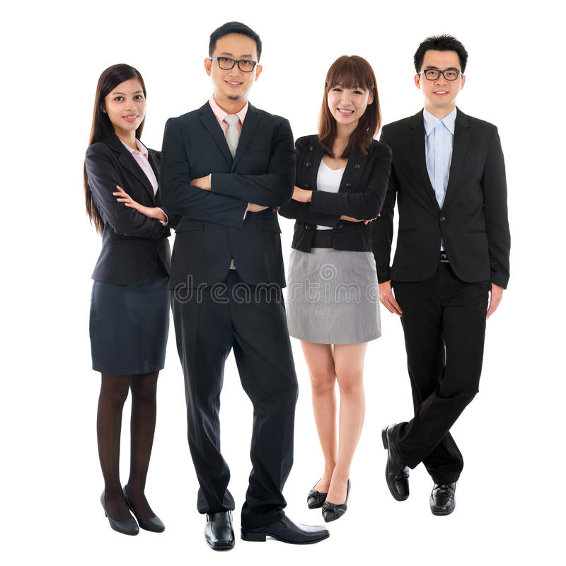 Asiatische multi ethnische Geschäftsleute lizenzfreies stockbild
