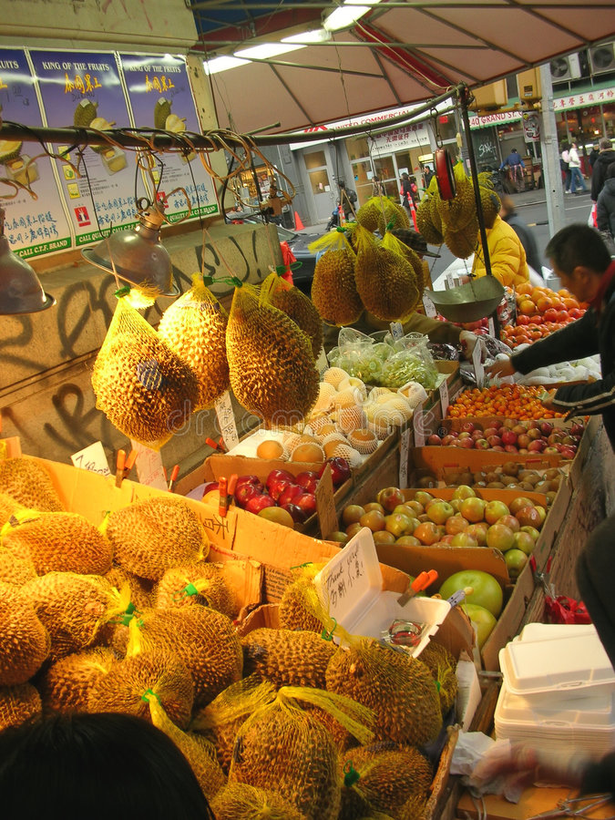 Asiatische Nahrung im kleinen Asien lizenzfreies stockfoto