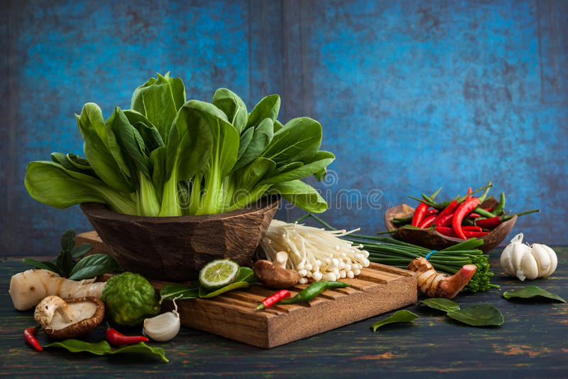 Asiatische Nahrungsmittelbestandteile stockfotos