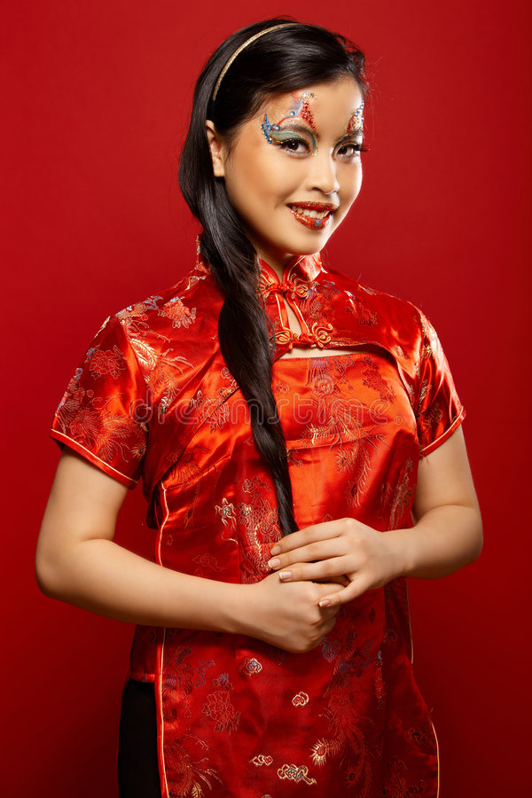 Asiatische Plastikpuppe stockfoto
