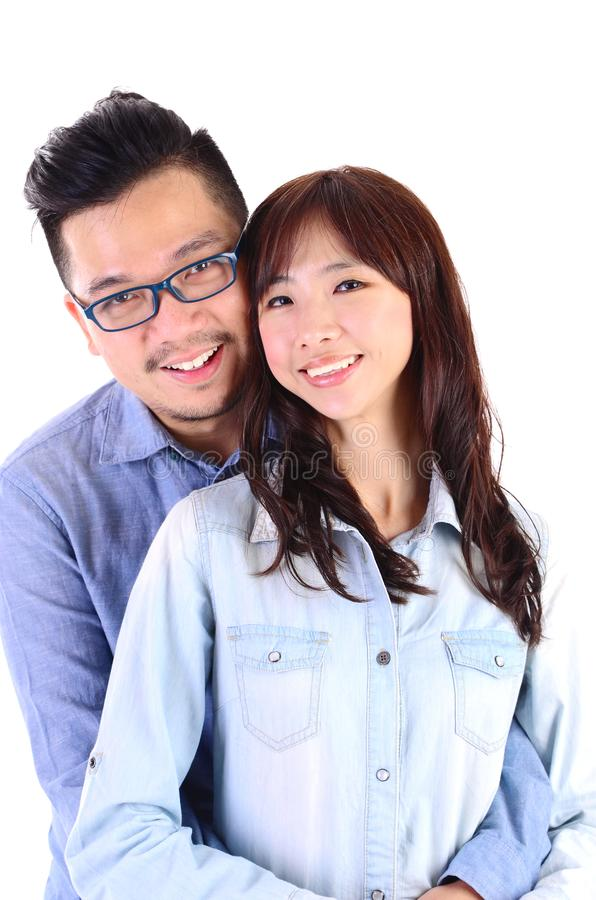Asiatische reizende Paare lizenzfreie stockfotos