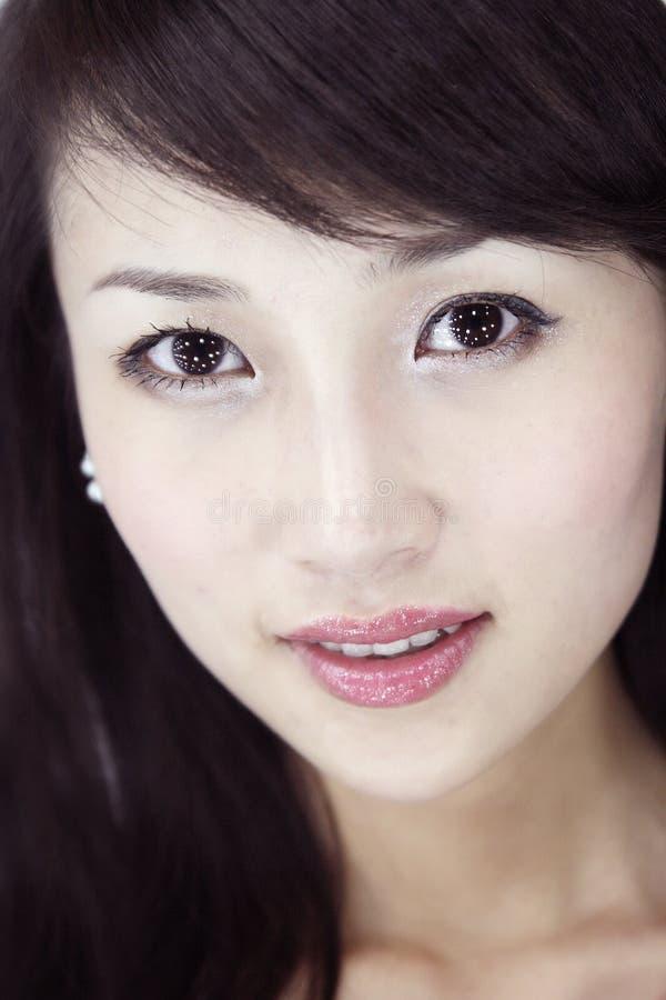 Asiatische schöne Mädchen. stockbilder