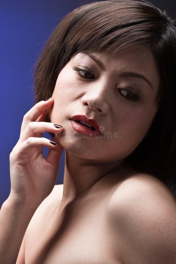 Download Asiatische Sinnlichkeit stockfoto. Bild von person, fashion - 12202446