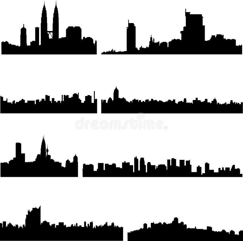 Asiatische Stadt-Serie vektor abbildung