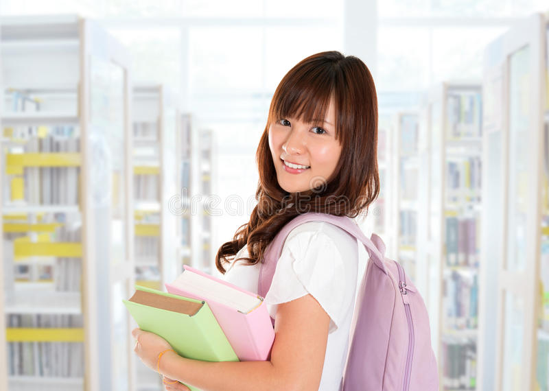 Asiatische Studentin stockfoto