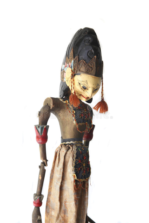 Asiatische wayang golek Marionette stockfoto