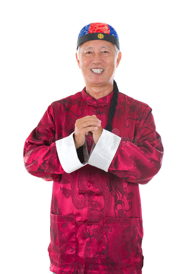 Asiatischer älterer Chinese lizenzfreie stockfotografie