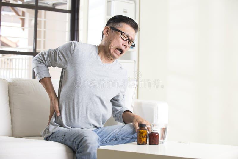 Asiatischer älterer Mann lizenzfreies stockfoto