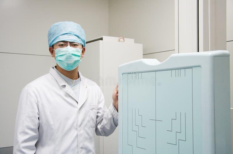 Asiatischer Doktor lizenzfreie stockfotos