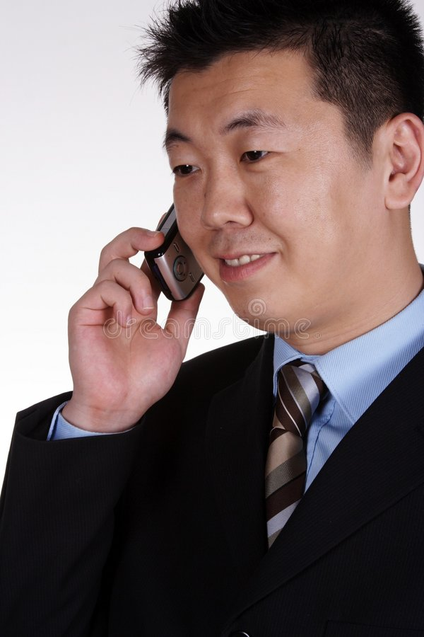 Asiatischer Geschäftsmann stockfotografie
