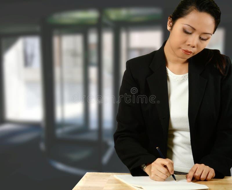 Asiatischer Geschäftsrepräsentant stockfotos