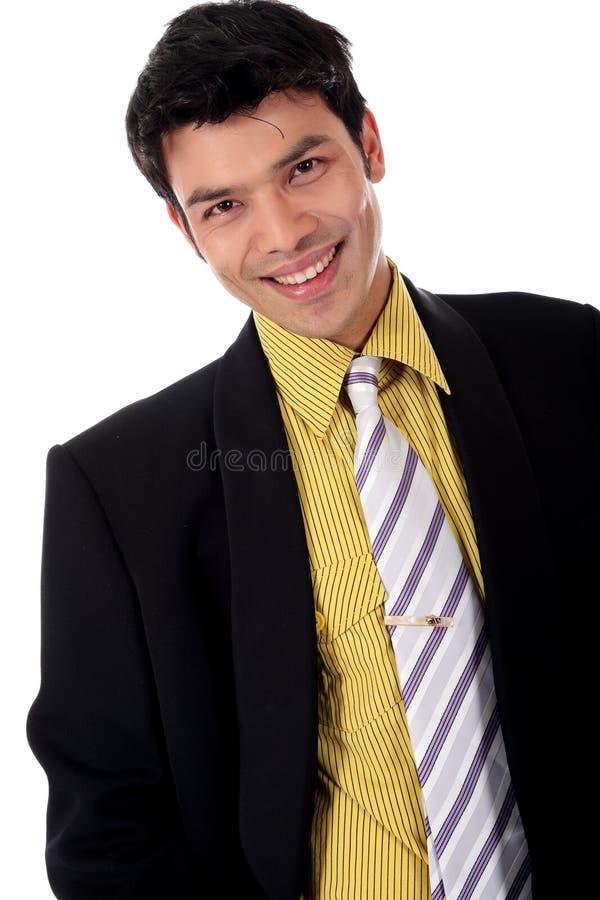 Asiatischer glücklicher Geschäftsmann lizenzfreies stockfoto