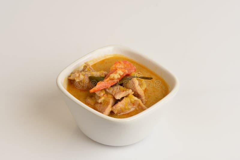 asiatischer Lebensmittelschweinefleischcurry lizenzfreie stockbilder