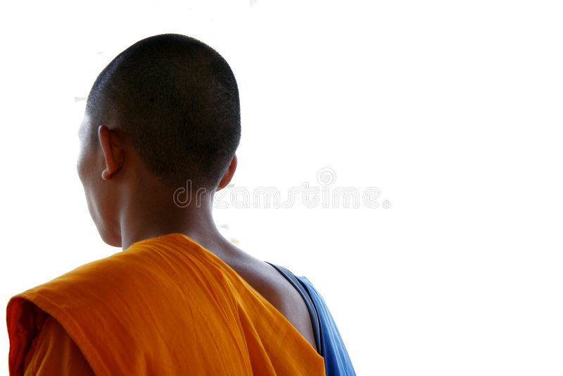 Asiatischer Mönch stockbild
