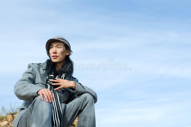 Asiatischer Mann von Art und Weise lizenzfreies stockfoto