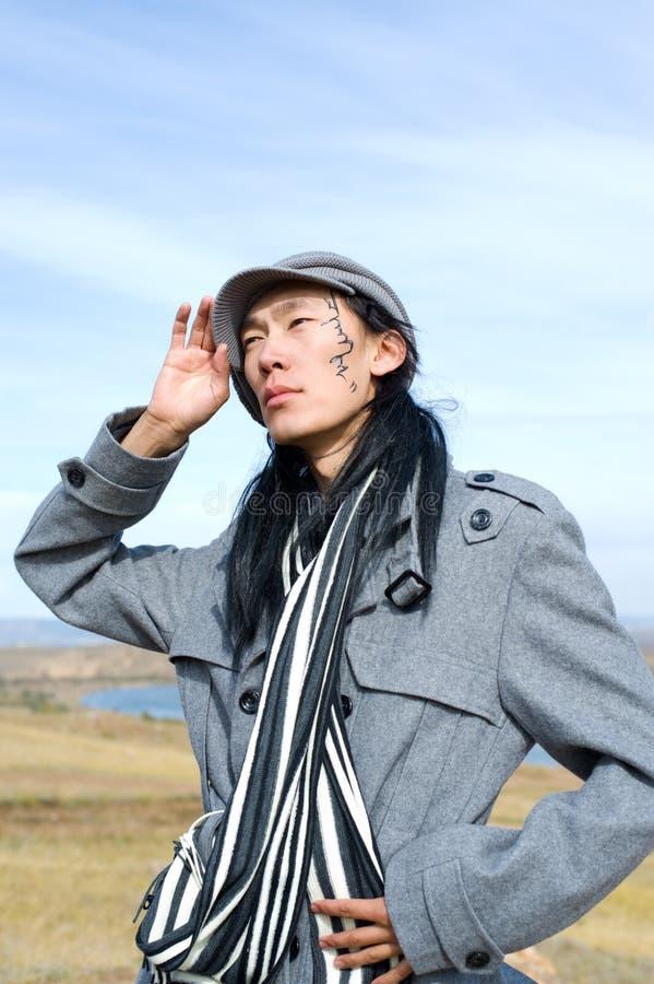 Asiatischer Mann von Art und Weise lizenzfreies stockbild