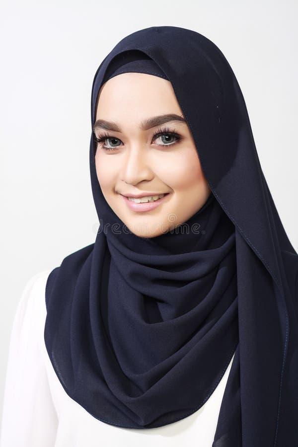 Asiatischer muslimah Frauenausdruck stockfotos