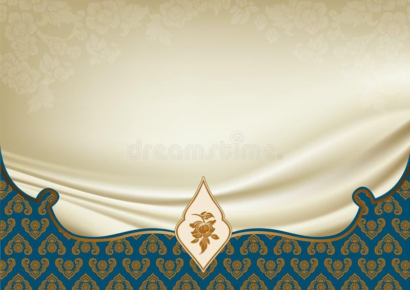 Asiatischer traditionelle Kunst Design-Vektor, thailändisches traditionelles Design vektor abbildung