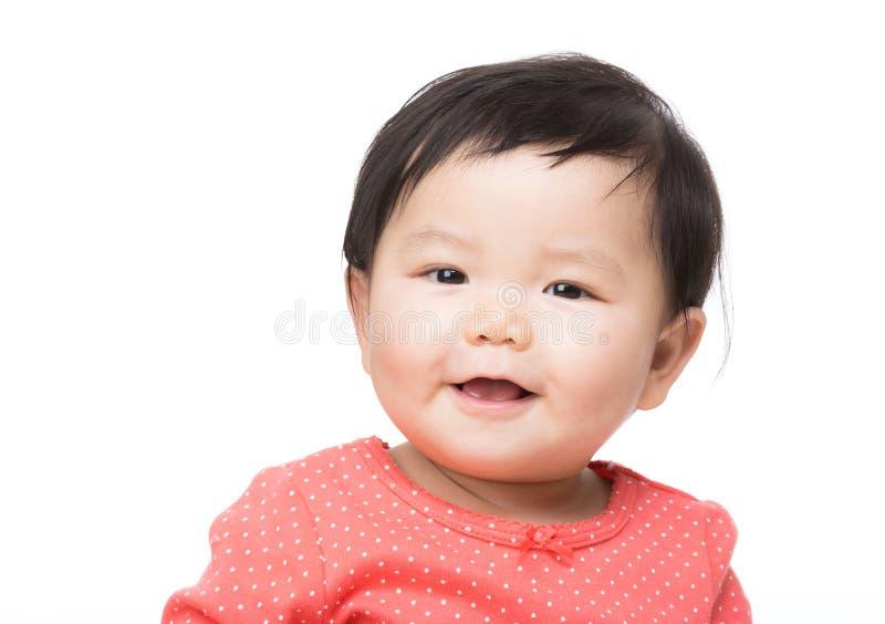 Asiatisches Babylächeln lizenzfreie stockfotografie